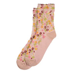 Socks Flower Garden Made With Cotton & Spandex by JOE COOL